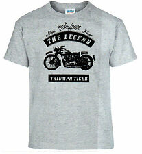 T-shirt Triumph Tiger Motorcycle Oldtimer Youngtimer 2xl Grey