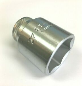 """STAHLWILLE 52-27 Socket, Metric, 1/2""""drive, 6 Point, 27mm. (03030027)"""