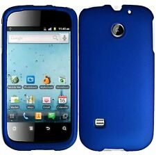 Hard Rubberized Case for Huawei Ascend 2 M865 - Blue