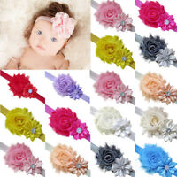 5pcs Elastic Infant Baby Headdress Kids Girls Chiffon Hair Band Flower Headband