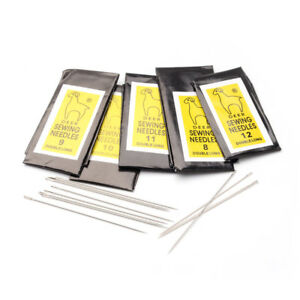 5 Bags Iron Beading Needles Normal Darning Sewing Needles Platinum Tools 40~55mm