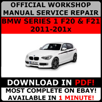 # OFFICIAL WORKSHOP Service Repair MANUAL for BMW SERIES 1 F20 F21 2011-2017  #