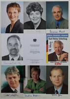 9 signierte Autogrammkarten aus Politik - Konvolut * Restposten * Sammlung