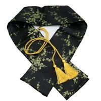 Silk Sword Bag Handmade Katana Samurai Storage Black Cloth Japanese Gold Tassel