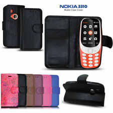 Synthetic Leather Mobile Phone Wallet Cases for Nokia 3310