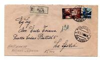 1950 REPUBBLICA DEMOCRATICA LIRE 50 + 15 TIMBRO AMBULANTE MILANO-GENOVA