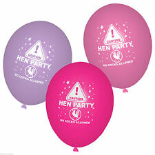 Hen Night Round Party Standard Balloons
