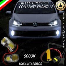 COPPIA LAMPADE FENDINEBBIA H8 LED CREE COB CANBUS VW GOLF 6 VI 100% NO ERROR