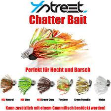 4Street Chatter Bait Chatterbait - Hecht und Barsch - Kunstköder Fransenköder