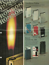 Vintage Ronson Lighter Catalog