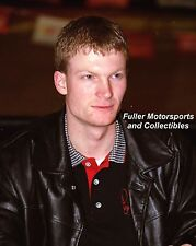 DALE EARNHARDT JR IN LEATHER JACKET 2000 NASCAR WINSTON CUP 8X10 PHOTO