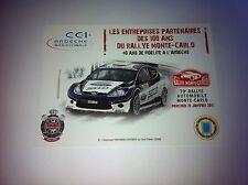 CP POSTCARD CARTOLINA FORD FIESTA HIRVONEN RALLY RALLYE WRC MONTE CARLO 2011