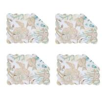 C F Quilted Products Key Biscayne Collection Rectangle Quilted Placemat Set of 4