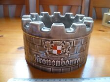 Rare Vintage Retro Kronenbourg Collectable 1664 WADE Round Castle Shape Ashtray