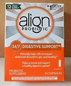 Align Digestive Support Probiotic Supplement, 84 Capsules. Exp 11/23