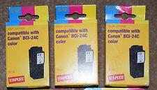 Canon BCI-24. Tri-colori x 3. compatibile Cartucce.