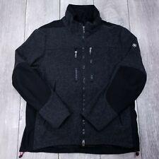 Victorinox Swiss Army Wool Jacket Mens XL Black Charcoal Full Zip Winter Spring