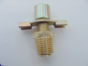 """1966-90 Fits Chrysler Radiator Petcock Drain Valve 1/4"""" NPT with Outlet Fitting"""