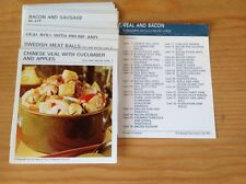 1967, vintage, MARGUERITE PATTEN, RECIPE CARDS,VEAL AND BACON, FULL SET OF 32