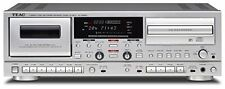 New listing New Teac Ad-Rw950-S Cd recorder cassette deck Silver mp3 Cd-R Rw from japan