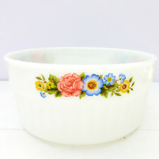 Vintage Retro 1970s Pyrex England Round Oven Casserole Dish Floral