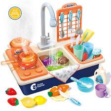 Kinderküche Spielküche Spielzeug Waschbecken Küche Geschirrspüler für Kinder