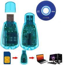 USB Phone SIM Card Reader Writer Copy Edit Cloner Backup Portable Adapter