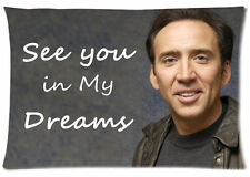 Smile Nicolas Cage Pillow Case See You In My Dreams Pillowcase Cover 20x30 In