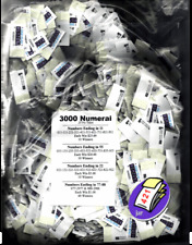 JAR TICKETS!!! 25c 3000ct SINGLES 0001-3000 Bingo Pull Tab Tip Board