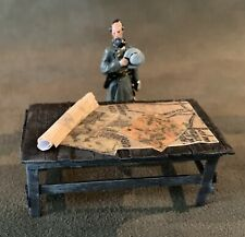 Confederate General Robert E. Lee, With Map Table, ACW, 54mm Metal