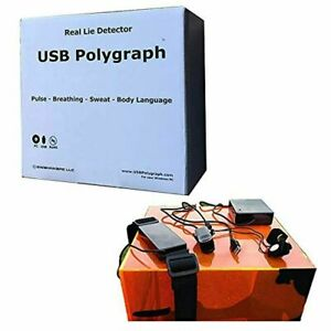 USB Polygraph Machine - Real Home Lie Detector Testing Kit USA