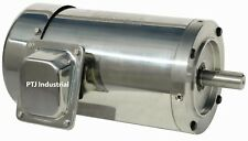 10 hp electric motor 215tc stainless steel washdown 3 phase 3600 rpm premium