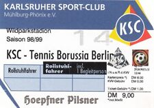 Ticket - Karlsruher SC v Tennis Borussia Berlin 1988/9