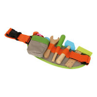 LEGLER Small Foot Adjustable Tool Belt with Tools and Accessories Wooden Toy