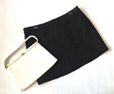 Cute Black VTG 60s style MOD SCOOTER boucle mini A line skirt retro 16