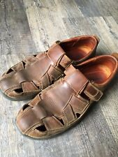Timberland Fisherman Sandals Mens 10 Brown Leather