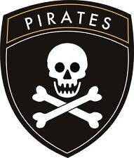 Pirates bouclier sheild Jolly Roger navire Fun Sticker Autocollant étiquette en vinyle graphique
