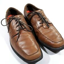 Rockport Walkability Mens Brown Leather Casual Oxfords Walking Shoes Size 13 M