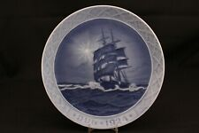 "Royal Copenhagen China 1924 Xmas Star Over the Sea Schooner Ship Boat 7"" Plate"