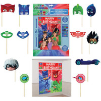PJ Masks Birthday Party Scene Setter decoration kit with 12 photo booth props