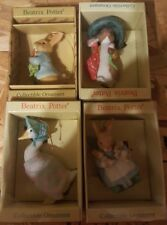 1985-88 Set of 4 Schmid Beatrix Potter Ornaments- see description below NIB NEW