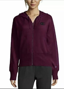 Champion Jacket Full Zip Hoodie Herringbone Heritage Purple Sz L NEW NWT 903