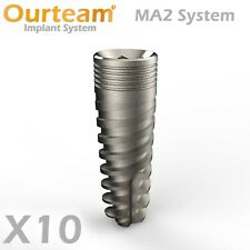 10 Dental Spiral Implant , Double Tube Pack , Top Quality SLA Surface - Sterile