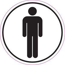 MENS TOILET Black White Wash room WC Lavatory Sticker Sign 150mm x 150mm