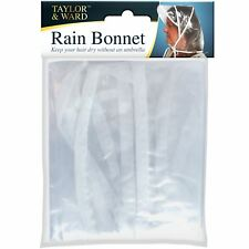 Taylor & Ward Rain Hat Ladies Bonnet Showerproof Waterproof Plastic Hood OAP