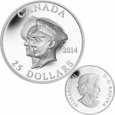 2014 Canada $25 Ultra-high Relief Fine Silver Coin - 75th First Royal Visit