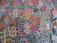 USA hoard of 1250 used blocks of 4 or more! Duplication, mixed condition