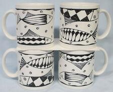 Sakura Port of Call Oceana Fish Mugs, Set of 4