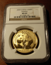 China 2009 Gold 1 oz Panda 500 Yuan NGC MS69
