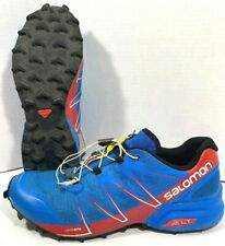 Salomon Speedcross Trail Running Shoes pro Sz 9.5 Bright Blue Radiant Red